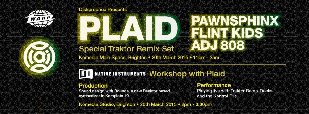 Native Instruments presents Workshop with Plaid & Flint Kids